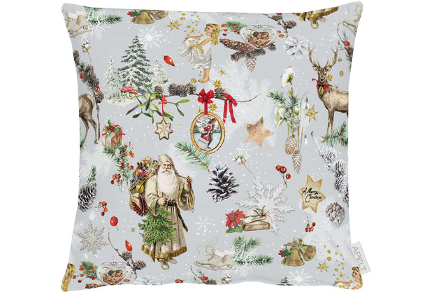 APELT Winterwelt Kissenhülle Christmas-all-over rot / multi 40x40 cm