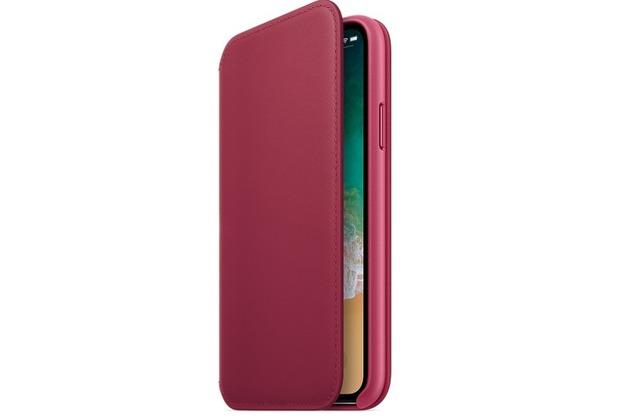 Apple iPhone X Leather Folio - Berry