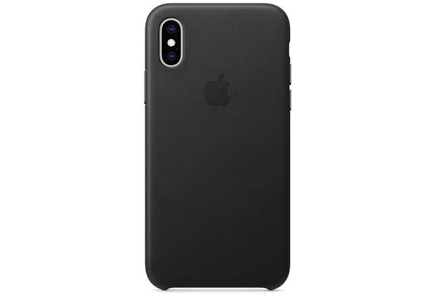 Apple iPhone XS Leather Case black