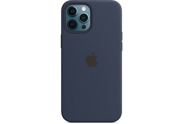 Apple Silikon Case iPhone 12 Pro Max mit MagSafe (dunkelmarine)