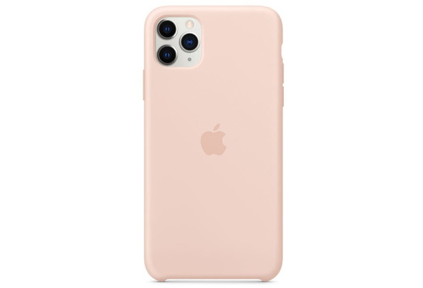 Apple Silikon Case iPhone 11 Pro Max sandrosa