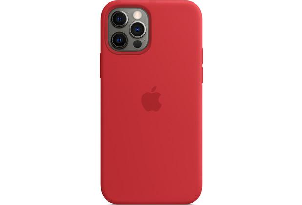 Apple Silikon Case iPhone 12/12 Pro mit MagSafe (rot)