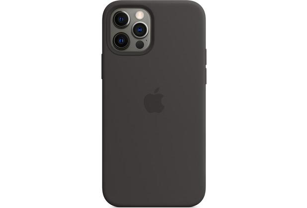 Apple Silikon Case iPhone 12/12 Pro mit MagSafe (schwarz)