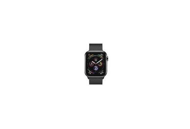 Apple Watch Series 4 Cell (LTE) 44 mm Edelstahl space black, Milanaise black