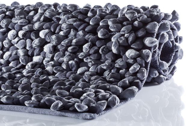 Aquanova ROCCA Badteppich, 77 steinblau 60 x 100 cm