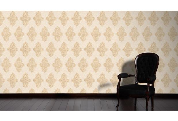 Architects Paper barocke Mustertapete Luxury Classics Vliestapete beige creme metallic 10,05 m x 0,53 m