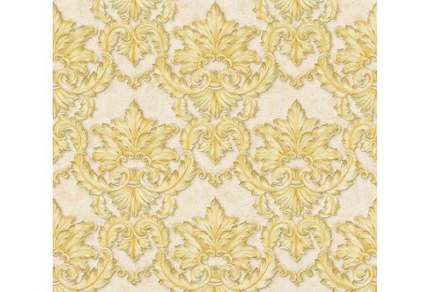 Architects Paper barocke Mustertapete Luxury Classics Vliestapete beige gelb metallic 343701 10,05 m x 0,53 m