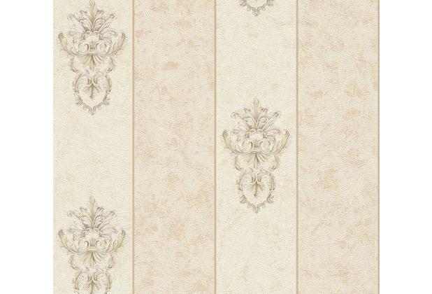 Architects Paper barocke Mustertapete Luxury Classics Vliestapete beige grau metallic 343713 10,05 m x 0,53 m