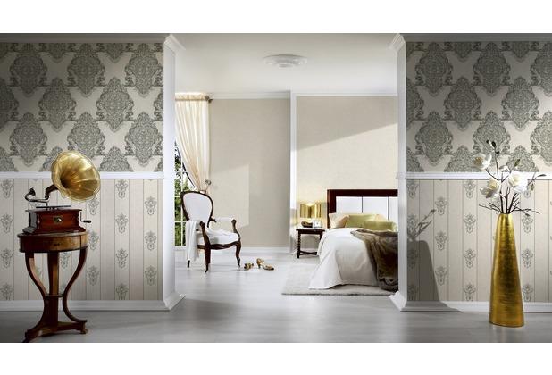 Architects Paper barocke Mustertapete Luxury Classics Vliestapete beige grau metallic 10,05 m x 0,53 m