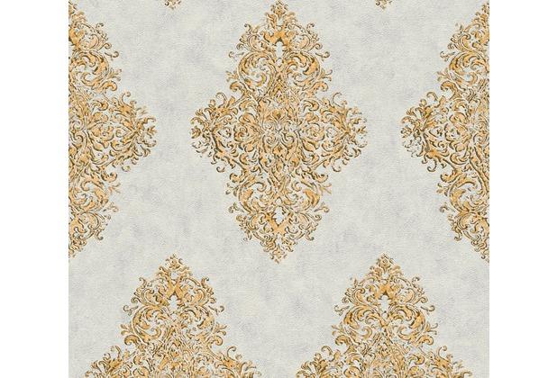 Architects Paper barocke Mustertapete Luxury Classics Vliestapete beige grau metallic 351103 10,05 m x 0,53 m