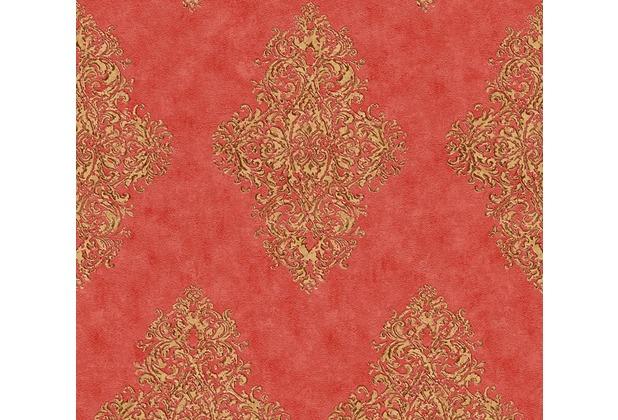 Architects Paper barocke Mustertapete Luxury Classics Vliestapete beige metallic rot 351106 10,05 m x 0,53 m