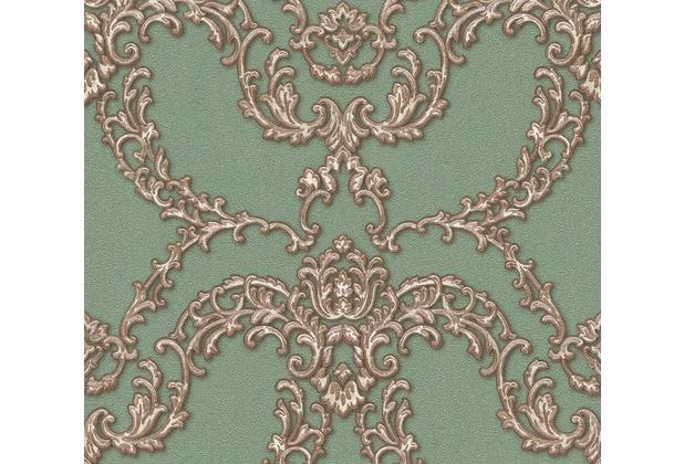 Architects Paper barocke Mustertapete Luxury Classics Vliestapete braun grün metallic 347773 10,05 m x 0,53 m