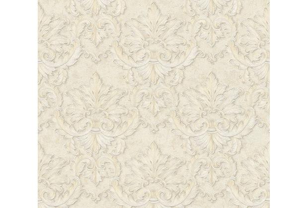 Architects Paper barocke Mustertapete Luxury Classics Vliestapete creme grau metallic 343706 10,05 m x 0,53 m