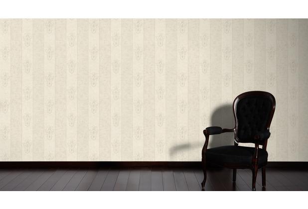 Architects Paper barocke Mustertapete Luxury Classics Vliestapete creme grau metallic 10,05 m x 0,53 m