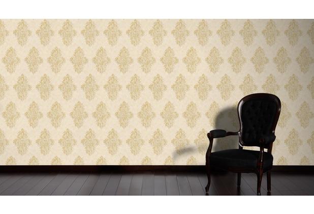 Architects Paper barocke Mustertapete Luxury Classics Vliestapete creme metallic 10,05 m x 0,53 m