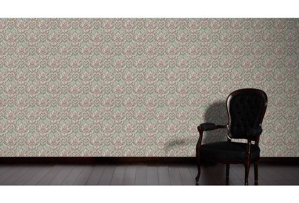Architects Paper barocke Mustertapete Luxury Classics Vliestapete grün metallic lila 10,05 m x 0,53 m