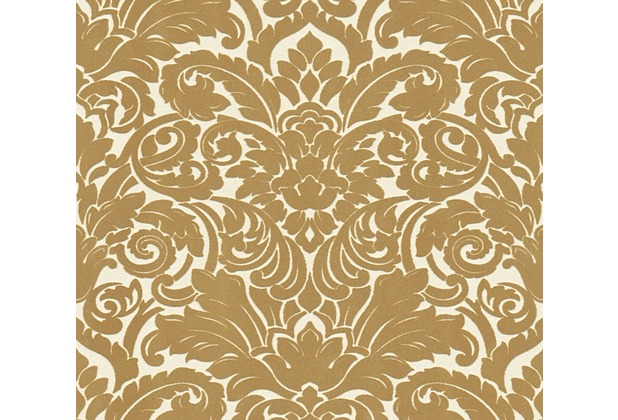 Architects Paper beflockte Vliestapete Castello Tapete braun creme 335832 10,05 m x 0,52 m