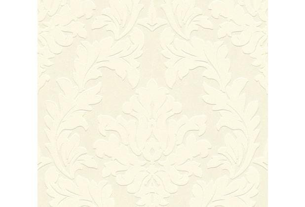 Architects Paper beflockte Vliestapete Castello Tapete creme metallic 335801 10,05 m x 0,52 m
