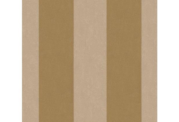 Architects Paper beflockte Vliestapete Castello Tapete gelb metallic 335812 10,05 m x 0,52 m