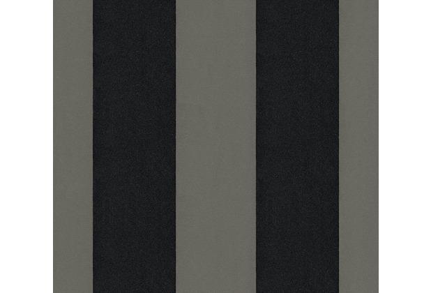 Architects Paper beflockte Vliestapete Castello Tapete grau schwarz metallic 335815 10,05 m x 0,52 m