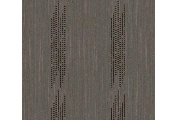 Architects Paper besticktes Designpanel AP Wall Fashion Textiltapete braun metallic 306075 3,20 m x 0,53 m