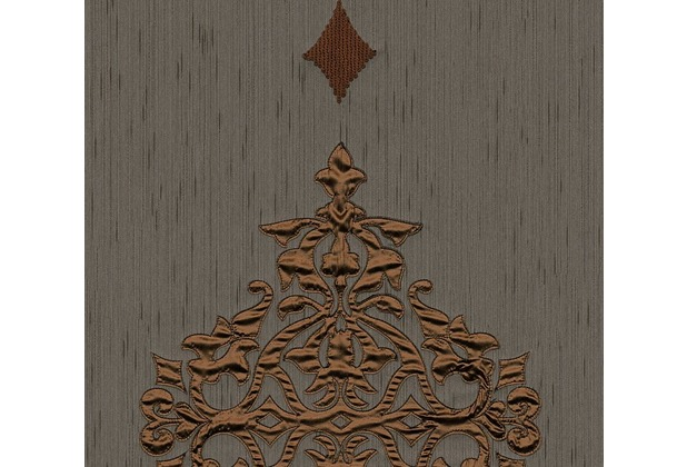 Architects Paper besticktes Designpanel AP Wall Fashion Textiltapete braun metallic 306175 3,20 m x 0,53 m