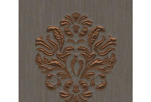 Architects Paper besticktes Designpanel AP Wall Fashion Textiltapete braun metallic 306345 3,20 m x 0,53 m