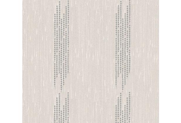 Architects Paper besticktes Designpanel AP Wall Fashion Textiltapete creme metallic 306072 3,20 m x 0,53 m