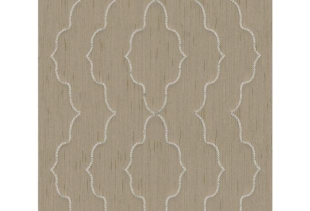 Architects Paper besticktes Designpanel AP Wall Fashion Textiltapete creme metallic 306154 3,20 m x 0,53 m