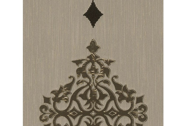 Architects Paper besticktes Designpanel AP Wall Fashion Textiltapete creme metallic 306171 3,20 m x 0,53 m