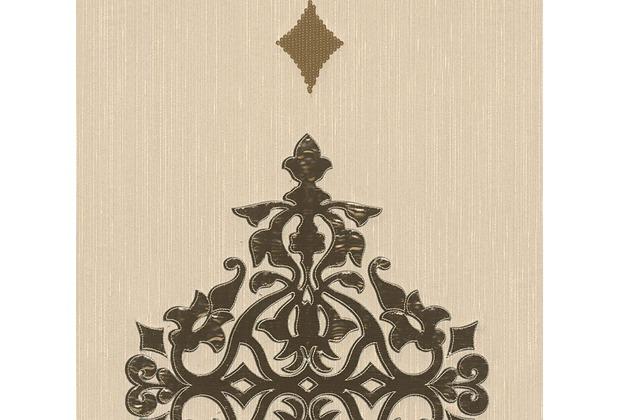 Architects Paper besticktes Designpanel AP Wall Fashion Textiltapete creme metallic 306172 3,20 m x 0,53 m