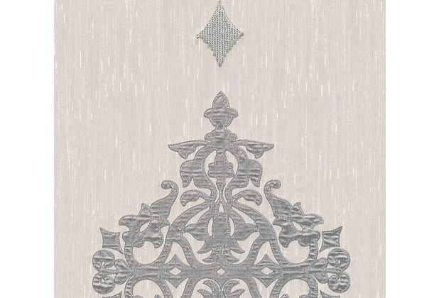 Architects Paper besticktes Designpanel AP Wall Fashion Textiltapete creme metallic 306173 3,20 m x 0,53 m