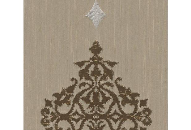Architects Paper besticktes Designpanel AP Wall Fashion Textiltapete creme metallic 306174 3,20 m x 0,53 m