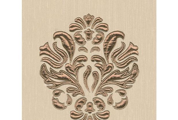 Architects Paper besticktes Designpanel AP Wall Fashion Textiltapete creme metallic 306341 3,20 m x 0,53 m