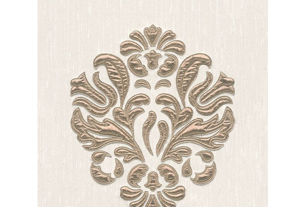 Architects Paper besticktes Designpanel AP Wall Fashion Textiltapete creme metallic 306343 3,20 m x 0,53 m