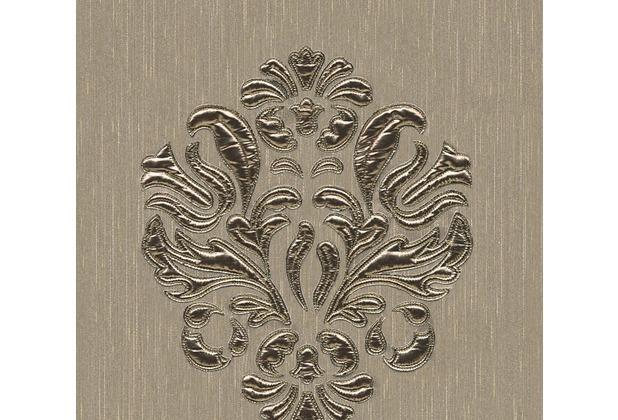 Architects Paper besticktes Designpanel AP Wall Fashion Textiltapete creme metallic 306344 3,20 m x 0,53 m