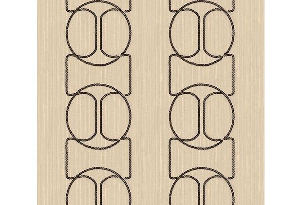 Architects Paper besticktes Designpanel AP Wall Fashion Textiltapete creme metallic 306131 3,20 m x 0,53 m