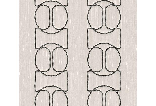 Architects Paper besticktes Designpanel AP Wall Fashion Textiltapete creme metallic 306132 3,20 m x 0,53 m