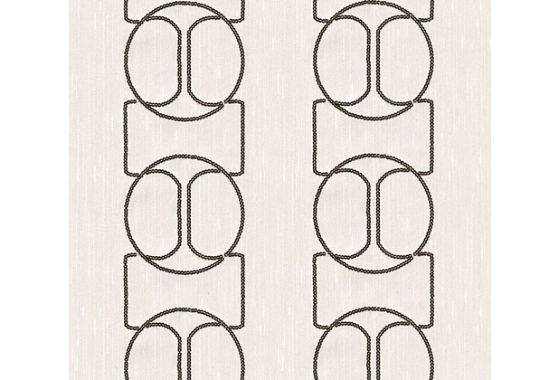 Architects Paper besticktes Designpanel AP Wall Fashion Textiltapete creme metallic 306133 3,20 m x 0,53 m
