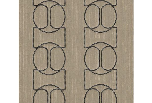 Architects Paper besticktes Designpanel AP Wall Fashion Textiltapete creme metallic 306134 3,20 m x 0,53 m
