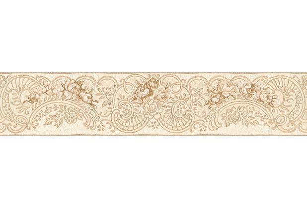 Architects Paper florale Bordüre Kind of White by Wolfgang Joop beige braun metallic 5,00 m x 0,13 m