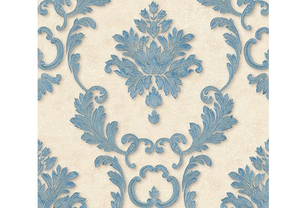 Architects Paper klassische Mustertapete Luxury wallpaper Tapete blau creme metallic 324222 10,05 m x 0,53 m