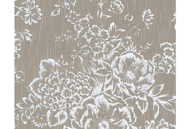 Architects Paper klassische Mustertapete Metallic Silk Textiltapete 306574 10,05 m x 0,53 m