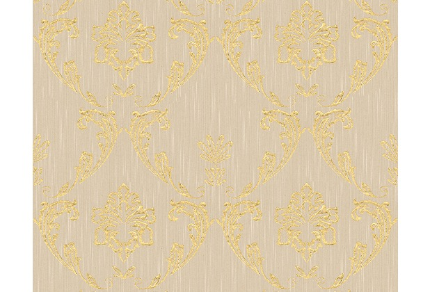 Architects Paper klassische Mustertapete Metallic Silk Textiltapete beige metallic 306582 10,05 m x 0,53 m