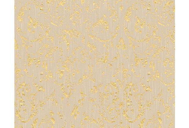 Architects Paper klassische Mustertapete Metallic Silk Textiltapete beige metallic 306602 10,05 m x 0,53 m