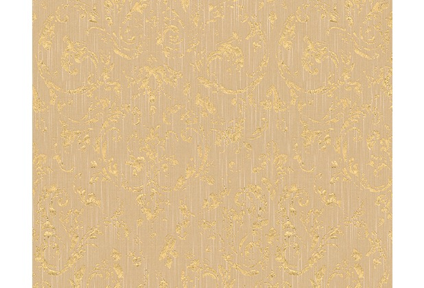 Architects Paper klassische Mustertapete Metallic Silk Textiltapete beige metallic 306603 10,05 m x 0,53 m