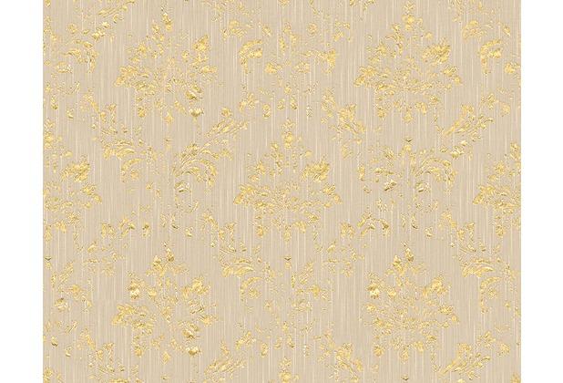 Architects Paper klassische Mustertapete Metallic Silk Textiltapete beige metallic 306624 10,05 m x 0,53 m