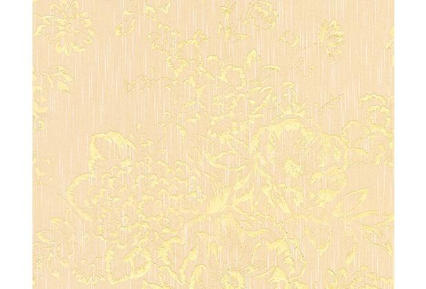 Architects Paper klassische Mustertapete Metallic Silk Textiltapete creme metallic 306573 10,05 m x 0,53 m