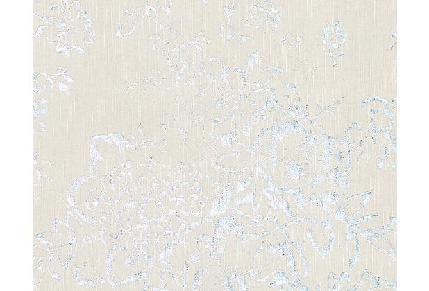Architects Paper klassische Mustertapete Metallic Silk Textiltapete grau metallic 306572 10,05 m x 0,53 m