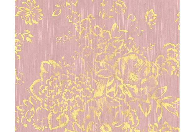 Architects Paper klassische Mustertapete Metallic Silk Textiltapete rosa metallic 306575 10,05 m x 0,53 m